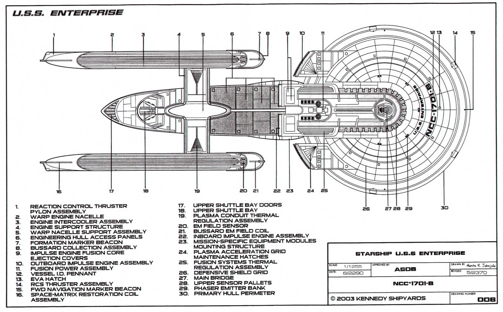 starfleet vessel  u s s  enterprise ncc