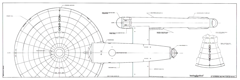 Star Trek Blueprints U S S Federation Class Dreadnought