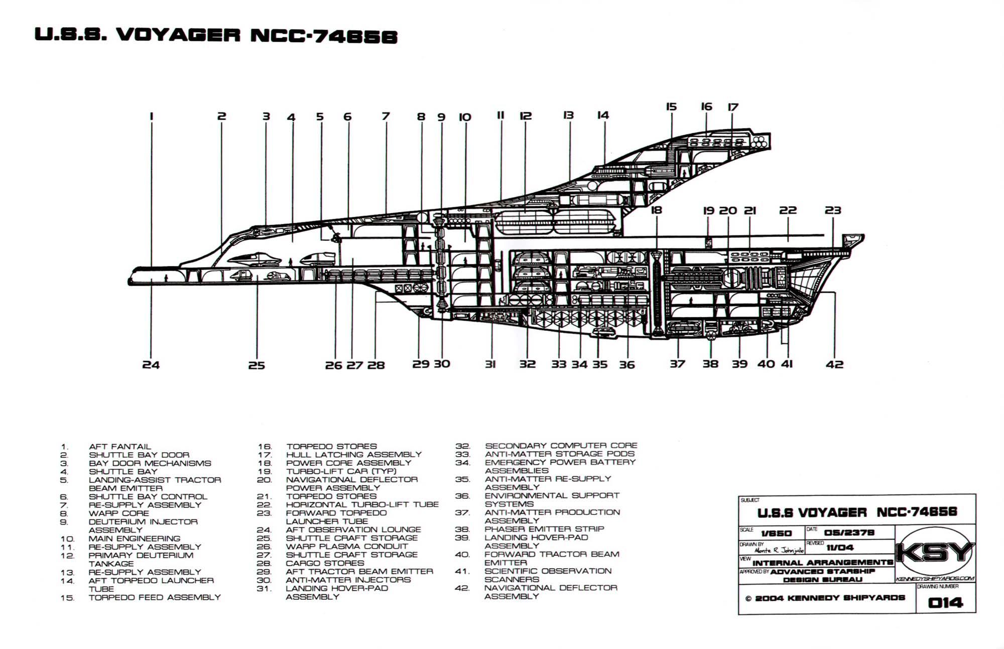 star trek blueprints intrepid class starship u s s voyager voyager internal schematic voyager schematics #12