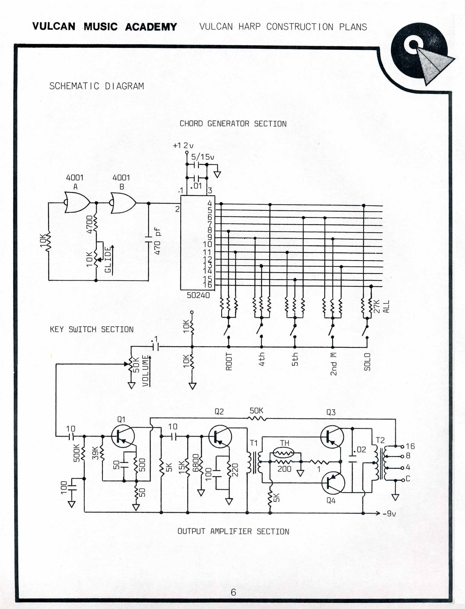 vulcan harp construction plans sheet 6 star trek blueprints vulcan harp construction plans Light Dimmer Switch at bakdesigns.co
