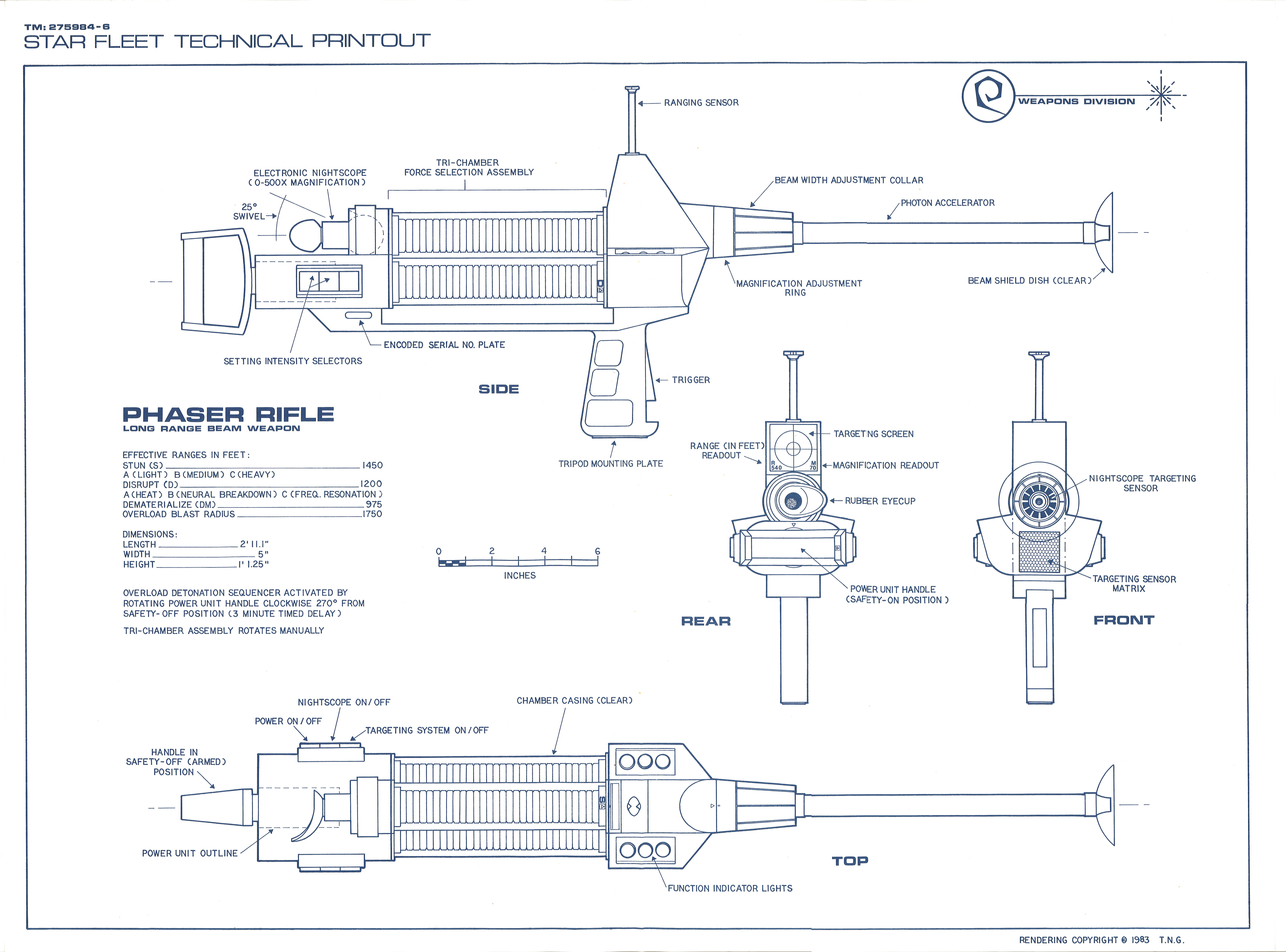 Star trek blueprints weapons and field equipment 1 weapons and field equipment 1 malvernweather Image collections