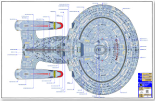 The Original Ed Whitefire Enterprise NCC-1701-D Blueprints on