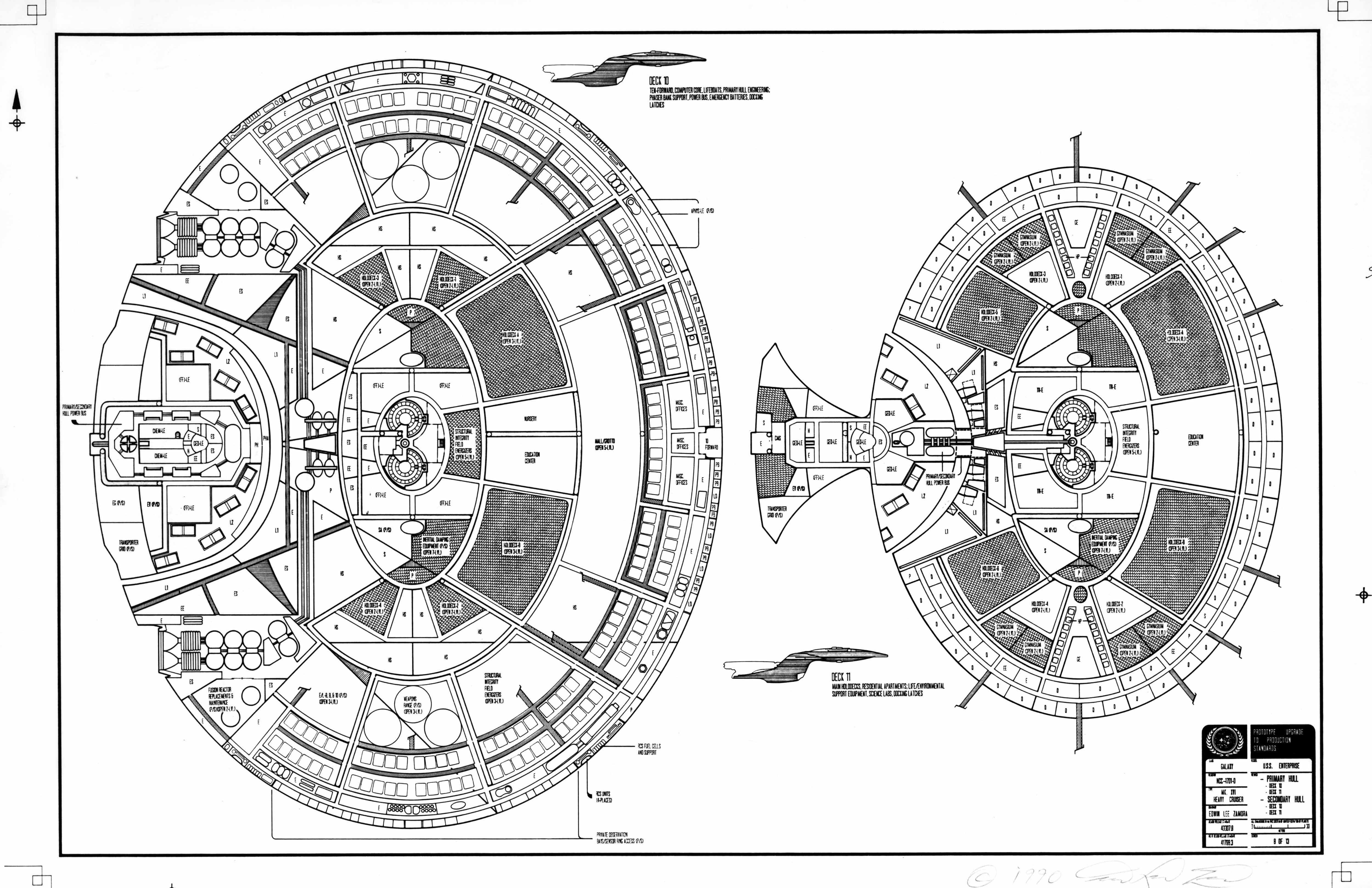 Enterprise D Floor Plan