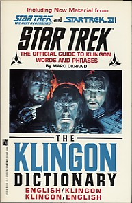 Star trek reference manuals book guide the klingon dictionary m4hsunfo