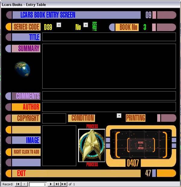 The Star Trek LCARS Microsoft-Access Database