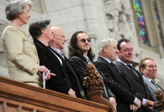 Rush Visit Canada's House Of Commons