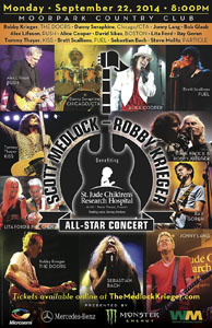Alex Lifeson To Participate in the 7th Annual Scott Medlock-Robby Krieger Invitational Golf Tournament and All-Star Concert