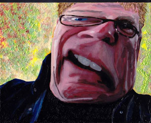 Alex Lifeson Self Portrait - Brush of Hope 2013