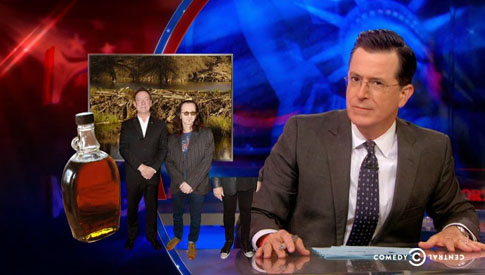 Rush Sighting on 'The Colbert Report'
