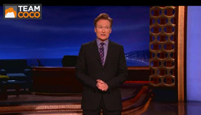 Rush Reference on Conan O'Brien