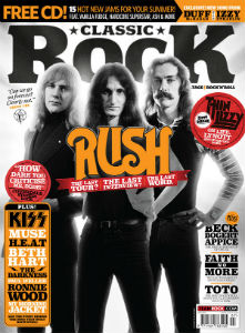 Rush Featured on Cover of Classic Rock Magazine July 2015 Issue - Includes New Interview We're Coming Towards the End