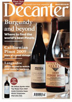 Geddy Lee Featured in the March 2012 Issue of Decanter Magazine