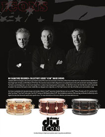 2014 NAMM Show Premieres New Alex Lifeson Guitar and Neil Peart Snare Drum