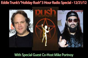 Eddie Trunk Interviews Alex Lifeson on his Holiday Rush Radio Special