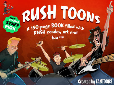 Rush Toons Books by Fantoons Now Available