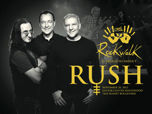 Rush to be Inducted into Guitar Center's Historic RockWalk