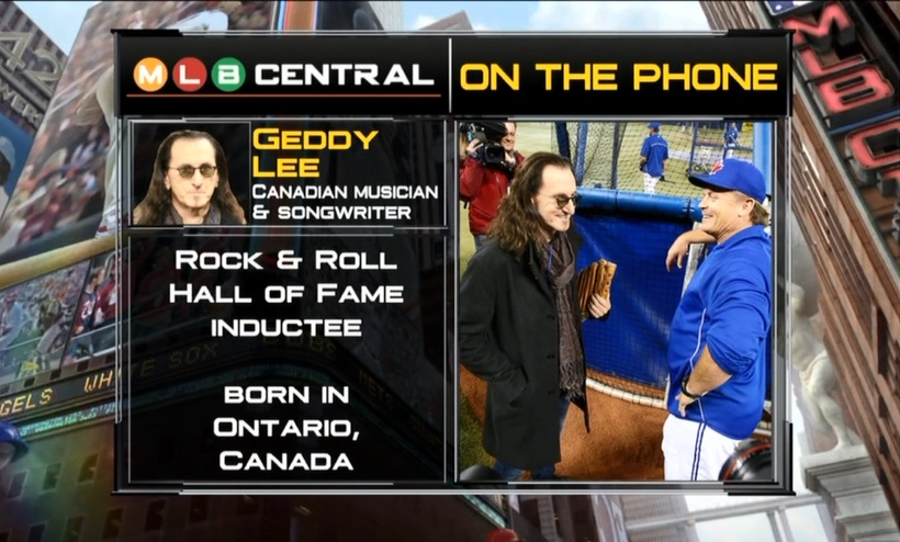 Geddy Lee Talks Rush and Baseball (Mostly Baseball) on MLB Central