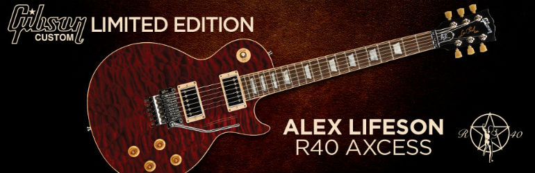 Gibson Custom Alex Lifeson R40 Axcess Guitar Now Available