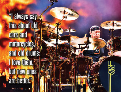 Neil Peart Featured in the January 2016 Issue of Modern Drummer Magazine