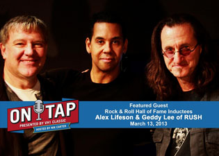 Geddy Lee and Alex Lifeson to Appear on VH1 Classic's On Tap Radio Show