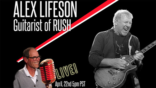 Alex Lifeson to Appear on Renman Live April 22nd
