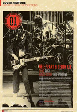Rhythm Magazine Name Geddy Lee and Neil Peart the Greatest Rhythm Section of All Time