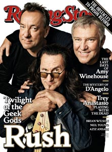 Rush Finally Make Rolling Stone Magazine's Cover