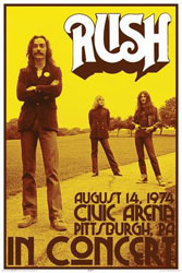 Rush Concert - August 14th 1974