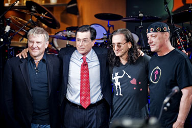 Rush Performance on 'The Colbert Report' Among the 10 Most Memorable Moments