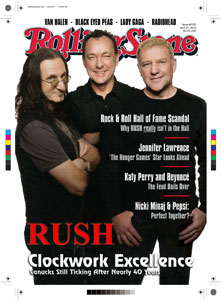 Rush Featured on Cover of Rolling Stone Magazine