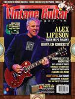 Alex Lifeson - Vintage Guitar Magazine - September 2011