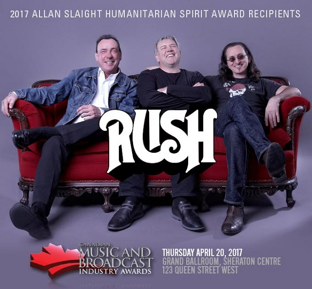 Rush Named the 2017 Allan Slaight Humanitarian Spirit Award Recipients