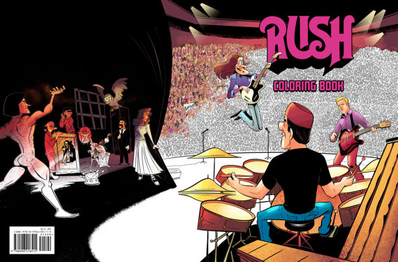 Official Rush Coloring Book by Fantoons Coming in December