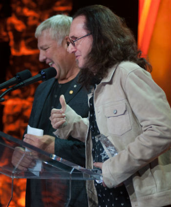 Rush Receive the Allan Slaight Humanitarian Spirit Award