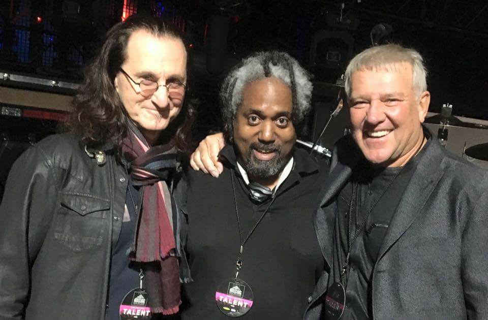 Geddy Lee & Alex Lifeson at the Rock and Roll Hall of Fame Induction Ceremonies - 2017