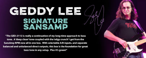 Geddy Lee Teams with Tech 21 for Signature SansAmp GED-2112