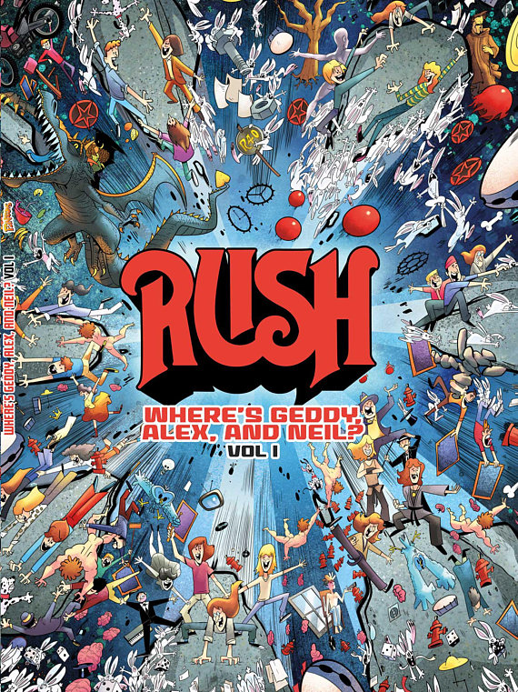New Rush Book - Where's Geddy, Alex & Neil? - Coming in December from Fantoons