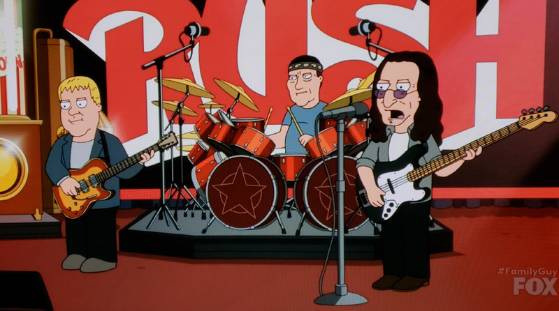 Rush Reference  on Family Guy - Video and Screen Caps Now Online