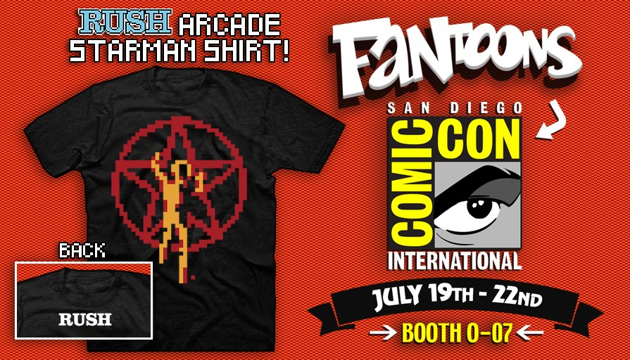 Fantoons Brings New Rush Merchandise to ComicCon