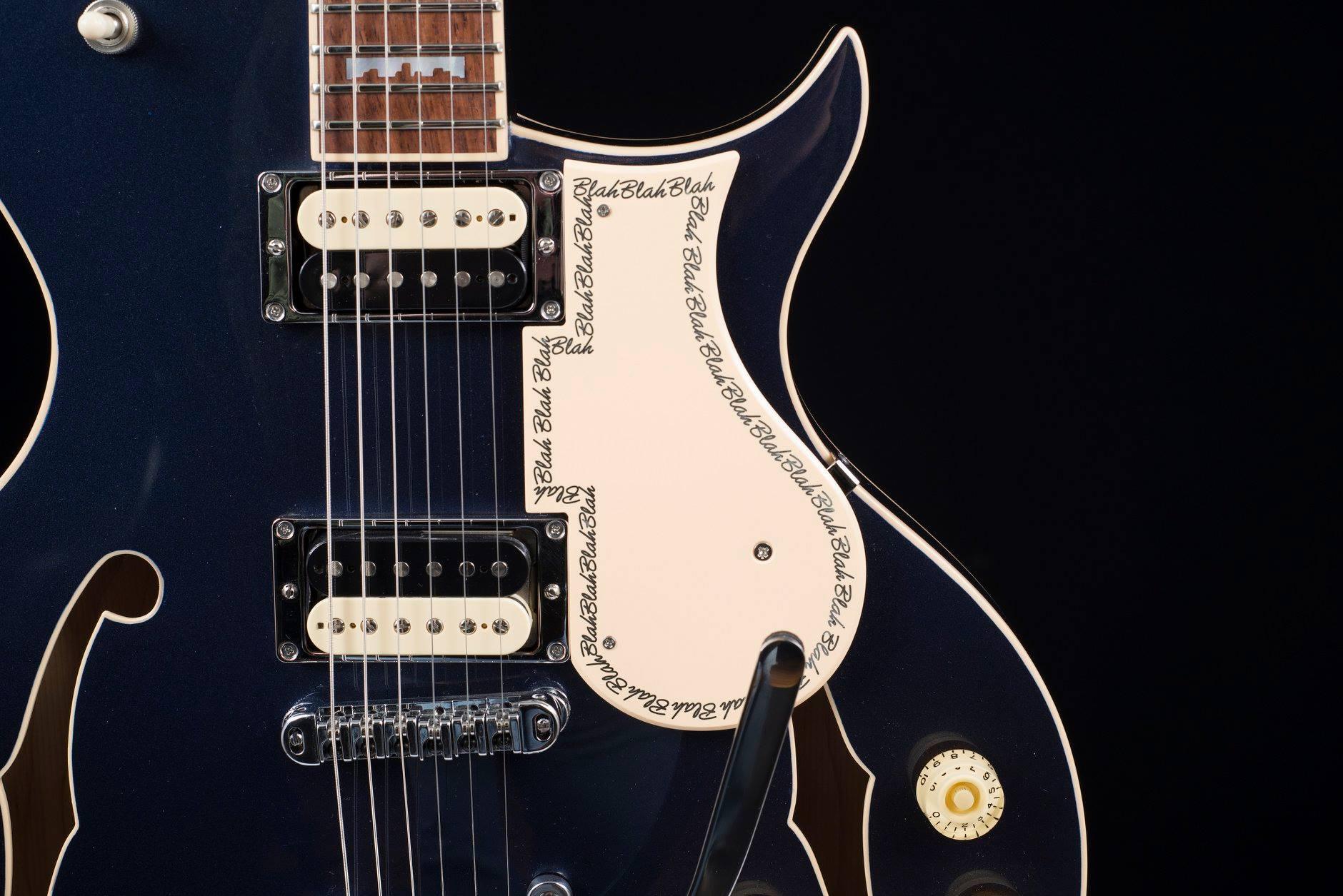 Alex Lifeson and his Harper Marilyn Custom Guitar