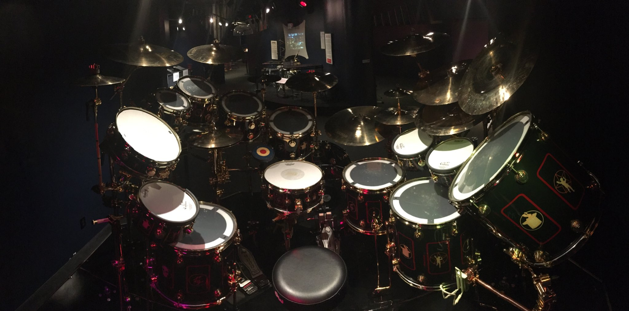 Neil Peart S R40 Drum Kit On Display At The Rhythm Discovery Center