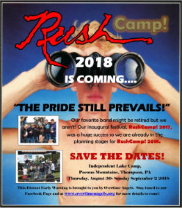 Rush Camp 2018 Coming in August
