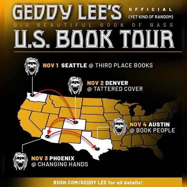 Geddy Lee Announces Four More U.S. Dates For His Big Beautiful Book of Bass Signing Tour