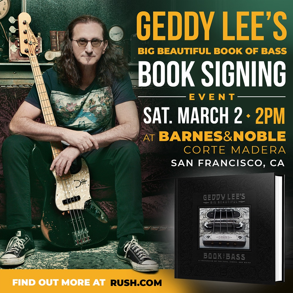 Geddy Lee's Book Signing Tour Heads to San Francisco