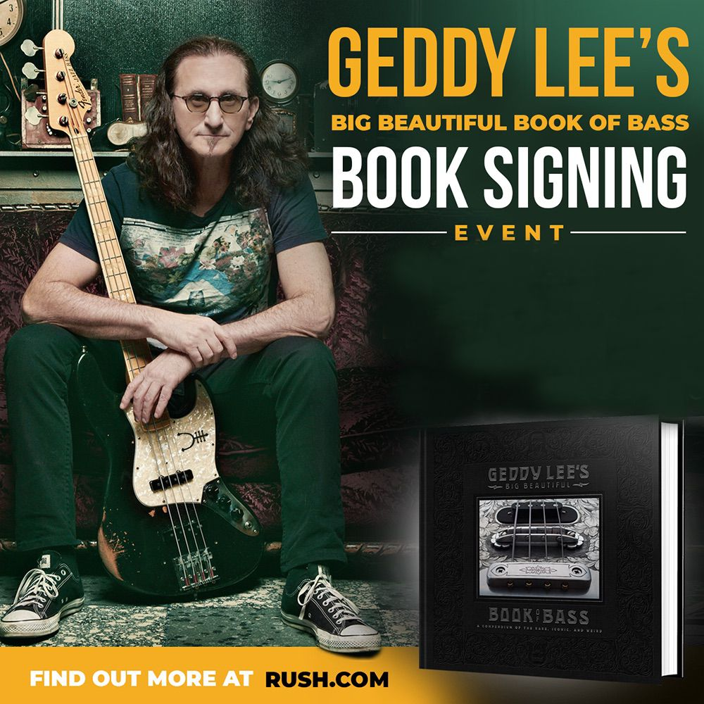 Geddy Lee Announces Canadian Book Signing Tour