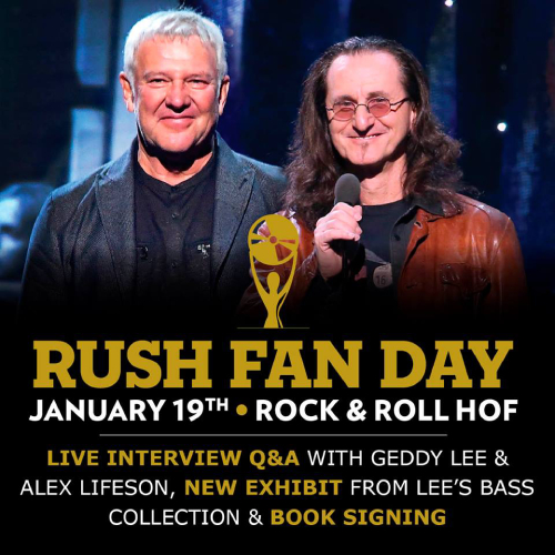 Rush Fan Day Coming to the Rock & Roll Hall of Fame January 19th