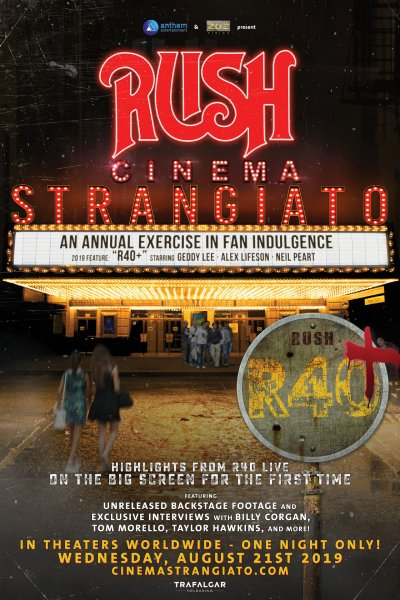 Rush: Cinema Strangiato 2019 Coming to Theaters In August