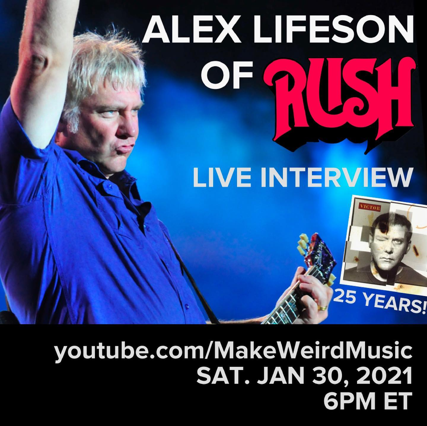 Alex Lifeson Live Interview by <i>Make Weird Music</i> Coming This Saturday