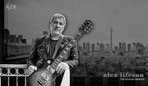 Alex Lifeson Releases Two New Instrumental Songs, a New Website, and a Alex Lifeson Epiphone Les Paul Standard Axcess Electric Guitar