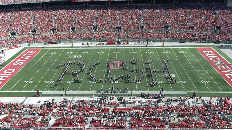 Watch the Ohio State University Marching Band's Tribute to Rush Halftime Show
